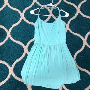 Blue Open Back Dress
